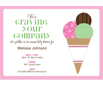 cravings baby shower invite