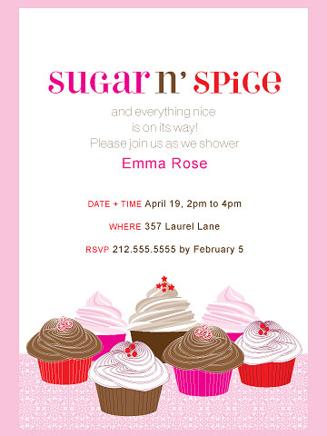 Sugar and Spice party invite
