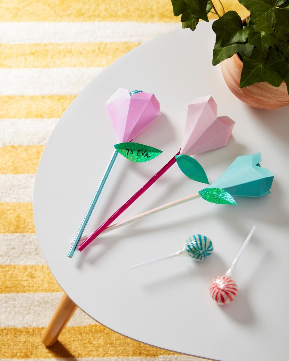 Valentines Day Crafts Lollipop Wand