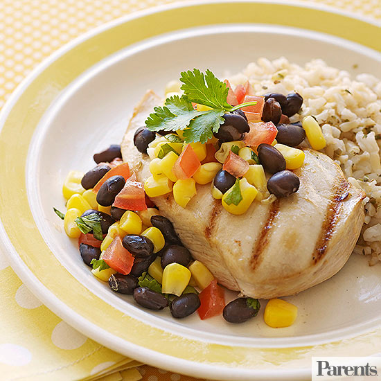Grilled Chicken with Brown Rice