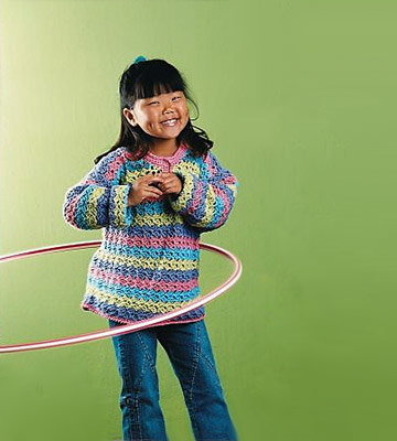 girl using hula hoop
