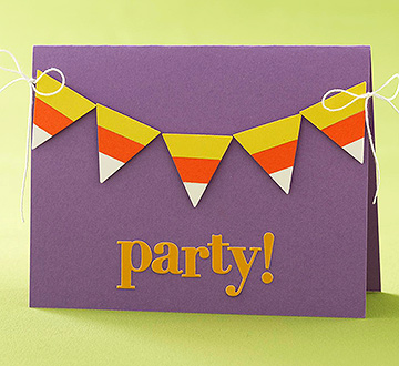 Candy Corn Party Card