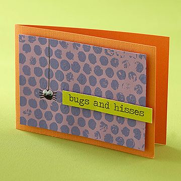 """Bugs and Hisses"" Card"