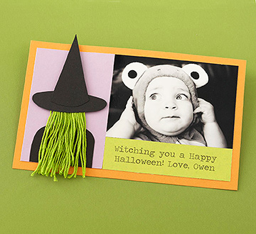 Witch Photo Card