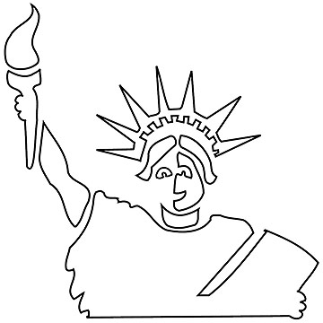 Jack O'Lantern Templates: Lady Liberty