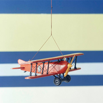 Hanging airplane