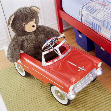 Car with stuffed animal