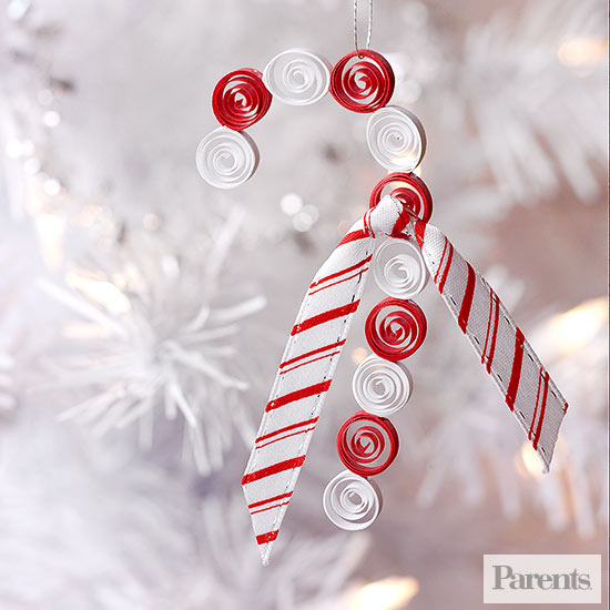 Homemade candy cane ornament