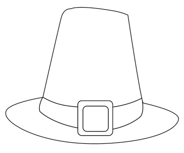 Pilgrim Hat Coloring Pages