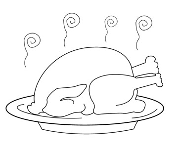 Turkey Dinner Coloring Pages