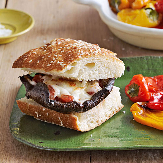 Portobello Pizza Cheeseburgers recipe image