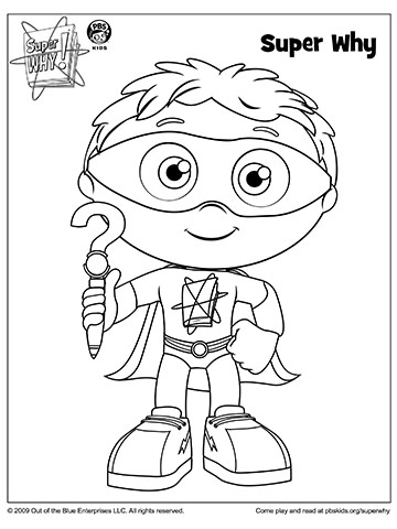 Super Why Holding His Why Writer