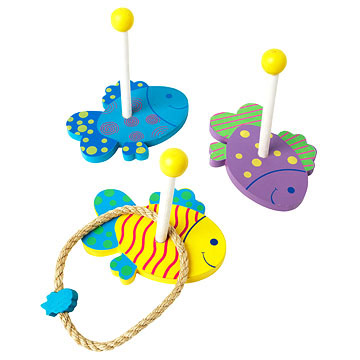 Under the Sea! Wooden Ring Toss Game