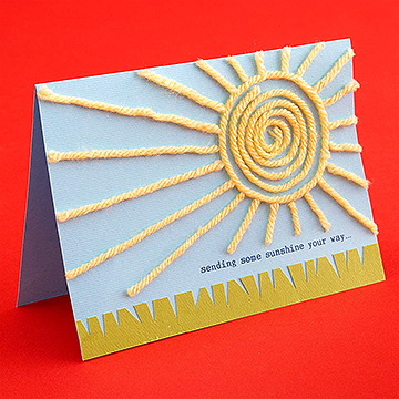Sunshine Yarn Card