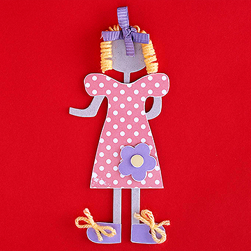 Paper Doll with Yarn Hair