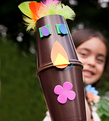 Luau Activity: Tiki Puppets