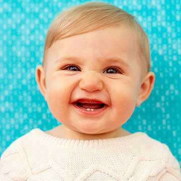 cute baby smiling