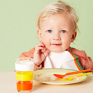 toddler at table