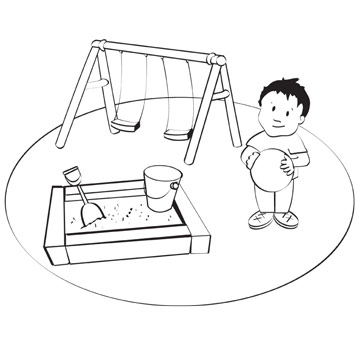 Playground Coloring Book Page
