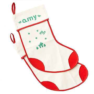 Iron-on stocking