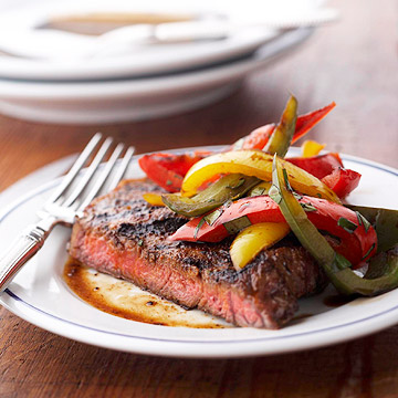 Cooked steak