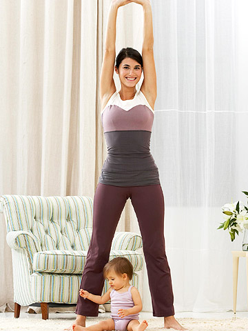 mother stretching