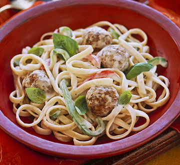 Thai Mini Meatballs & Noodles
