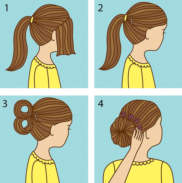 Ballerina Chignon How-To