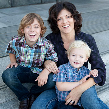 Dani with her sons Gabriel, 7, and Gideon, 3