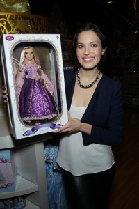 Mandy Moore with Rapunzel doll