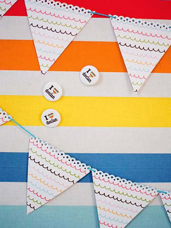 Decorative Striped Flags
