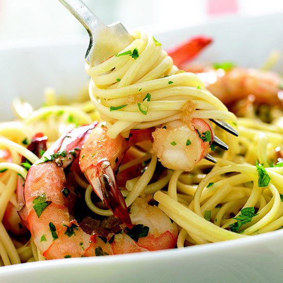 Tuesday: Shrimp Scampi Pasta