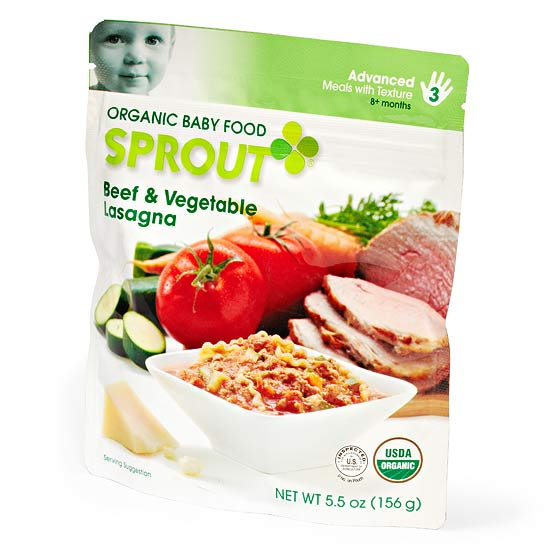 Sprout Organic Baby Food; Beef & Vegetable Lasagna-1312485601792.xml