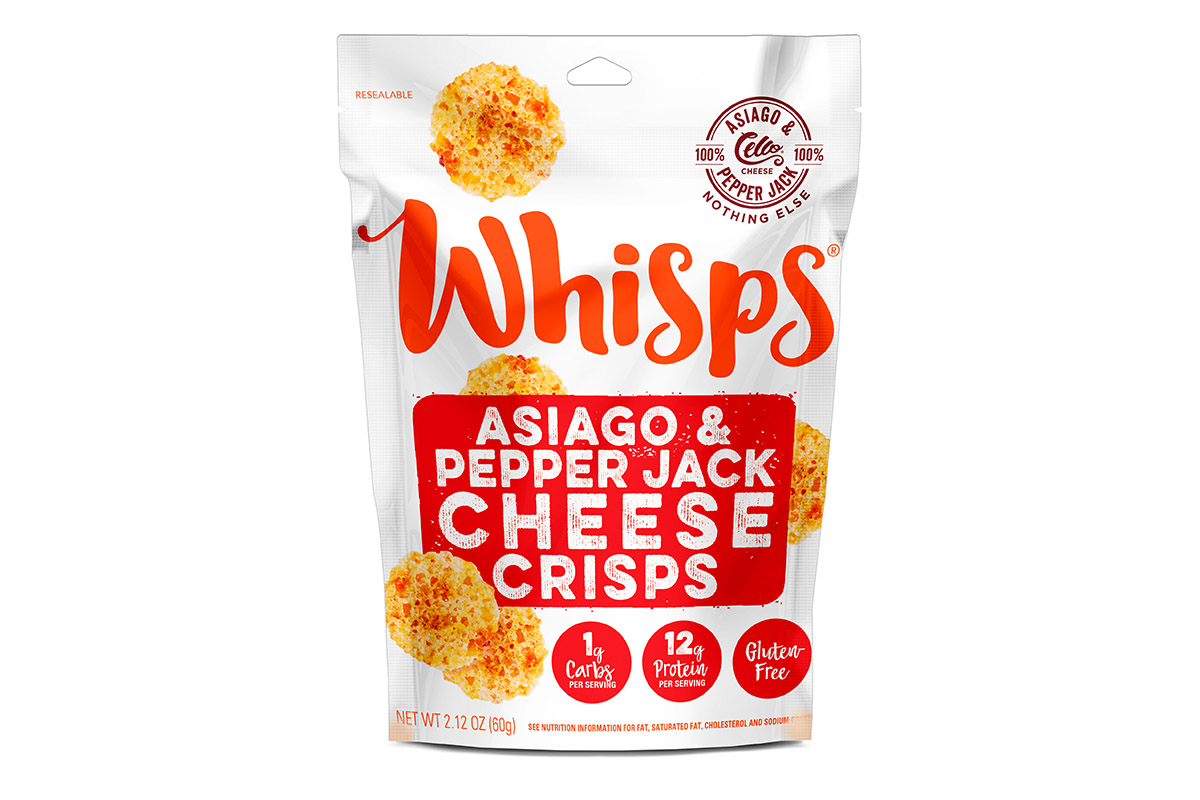 Asiago and Pepper Jack Cheese Whisps 2019