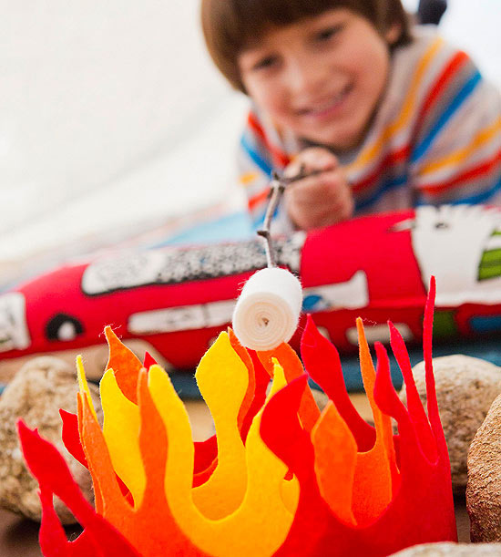 How to Make a Felt Campfire