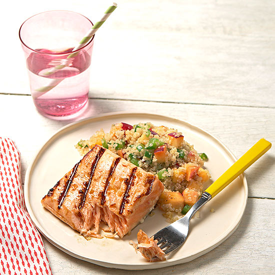 Salmon With Peachy Quinoa