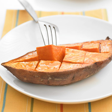 Roasted Sweet Potatoes with Orange