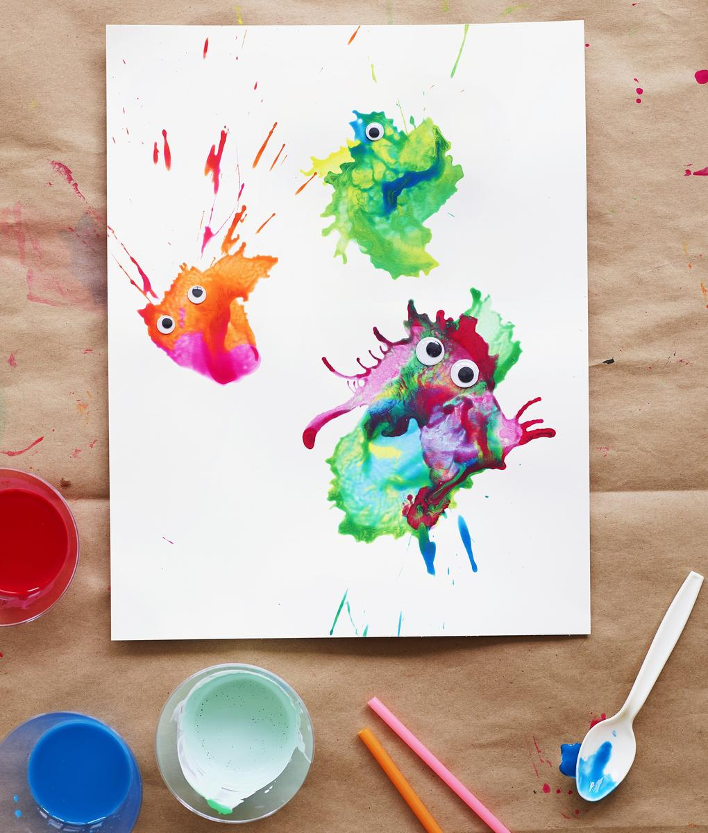 Paint Splat Monsters