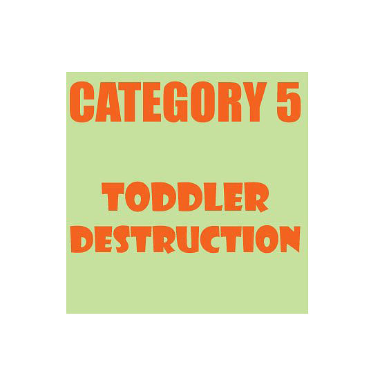 Toddlers should come with their own cleanup crew.