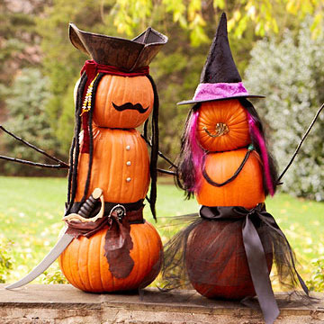 Dressed up pumpkins