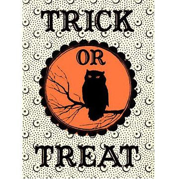 Trick or Treat bag Label