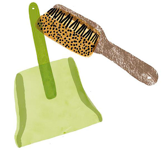 Dustpan and brush illo