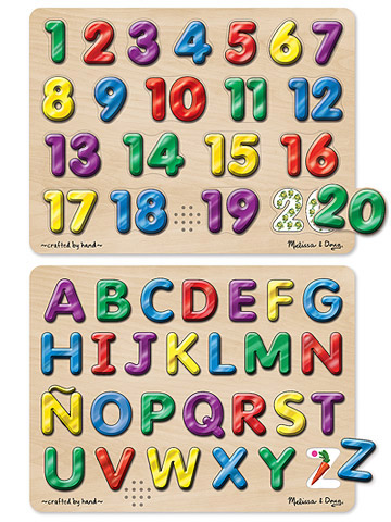 Spanish Alphabet and Numbers Sound Puzzles
