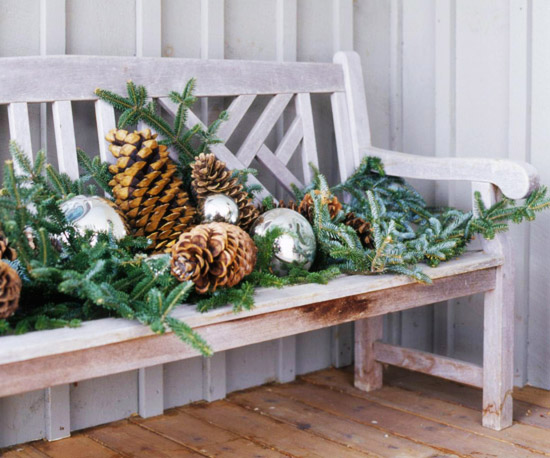 HolidayCel2004_White Weathered Bench Decorated With Pinecones and Pine Garland-holidaycel2004_whiteweatheredbenchdecoratedwithpineconesandpinegarland_09052004.xml