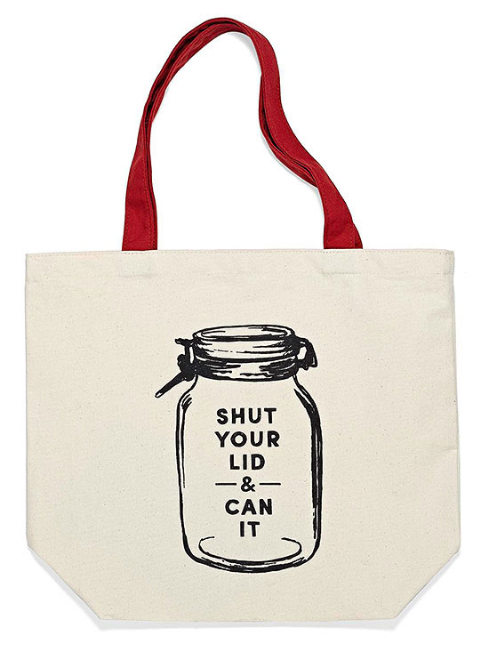 punny canvas bag