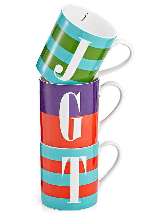 Kate Spade New York monogram mugs