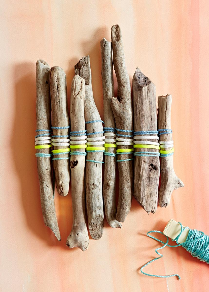 Nature Crafts Driftwood Sticks Tied In Cords