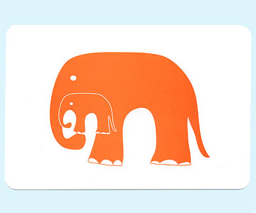 orange elephant thank-you cards