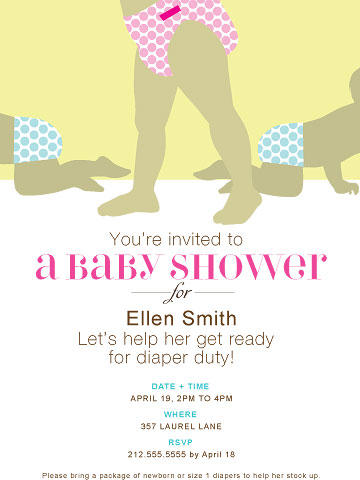 Diaper Shower invite