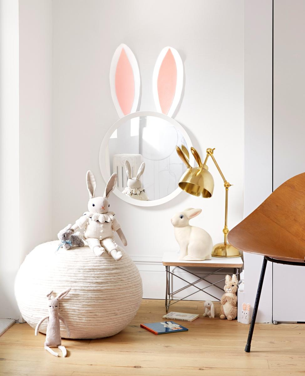 Kid Decor Bunny Mirror